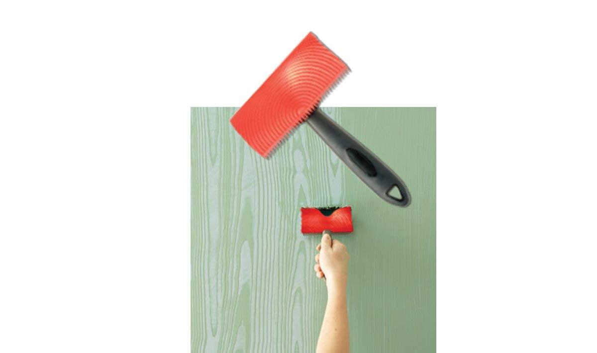 Veteador de goma pintura imitación beta madera