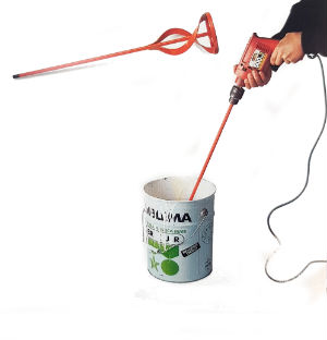mezcla de pintura con hélice